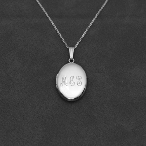 Personalized Oval Locket Necklace
