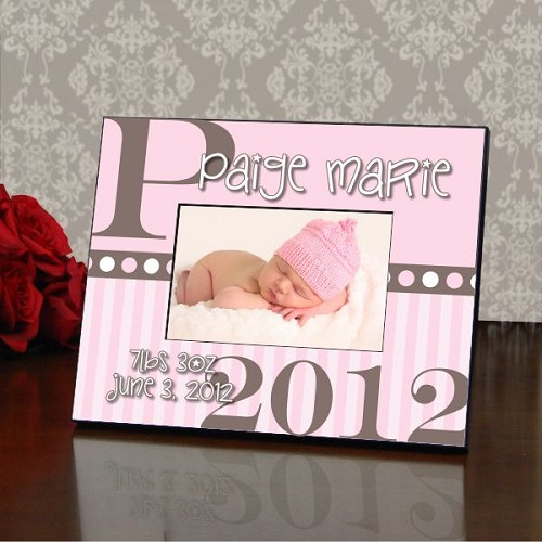 Baby Girl Personalized Color Picture Frame