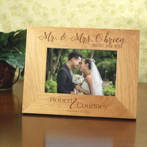 Happily Ever After Personalized Wood Frame