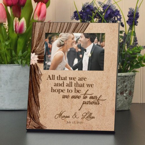 We Owe to Our Parents Wedding Frame