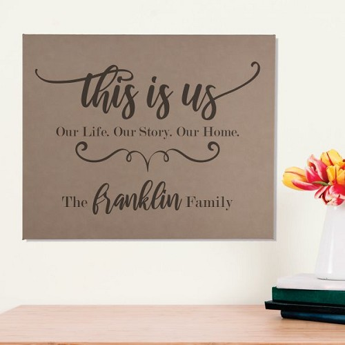 This Is Us Personalized Wall Art