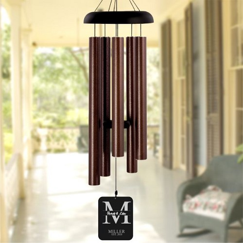 Monogram Personalized Wind Chime